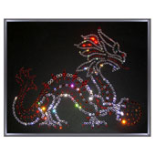"""Картина из кристаллов Сваровски """"Дракон с шаром"""" Цена: 5300 руб."""