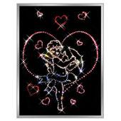 Картина из кристаллов Сваровски «Валентинчик» Цена: 5900 руб.