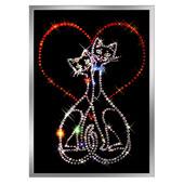 Картина из кристаллов Сваровски «Кошки» Цена: 5100 руб.