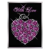 Картина из кристаллов Сваровски «Сердце из роз» Цена: 21650 руб.