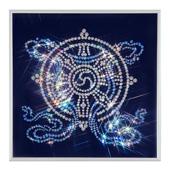 """Картина из кристаллов Сваровски """"Колесо Фортуны"""" Цена: 7200 руб."""