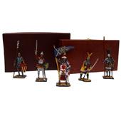 """Оловянные фигурки """"Рыцари"""" (5 фигур)  Цена: 4850 руб."""