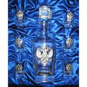 "Набор из 6-ти водочных стопок ""Герб"" Квадро Цена: 3950 руб."