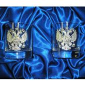"""Набор из 2-х стаканов для виски """"Герб"""" Цена: 2300 руб."""