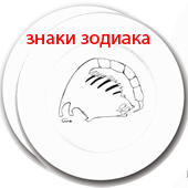"!!!Фарфоровая тарелка ""Знак Зодиака"" 12 вариантов Цена: 1600 руб."