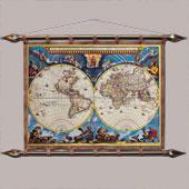 Старинная карта  № 1 (кожа) Цена: 8000 руб.