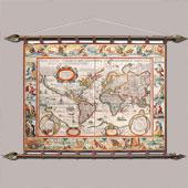 Старинная карта  № 4 (кожа) Цена: 12000 руб.
