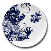 "Фарфоровая тарелка ""Дракон"" Цена: 2250 руб."