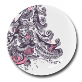 "Фарфоровая тарелка  ""Девочка""  Цена: 1500 руб."