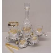 Набор для виски с позолотой «Герб» Цена: 48450 руб.