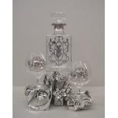 Набор для бренди с позолотой «Герб» Цена: 33500 руб.