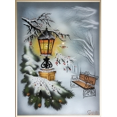 Картина из кристаллов Swarovski Сквер зимой Цена: 16850 руб.