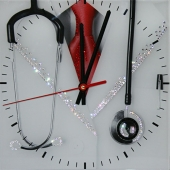 "Часы с кристаллами Swarovski ""Доктор"" Цена: 7150 руб."