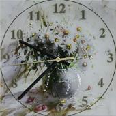"Часы с кристаллами Swarovski ""Ваза с ромашками"" Цена: 5050 руб."