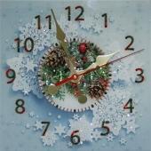 """Часы с кристаллами Swarovski """"С новым Годом"""" Цена: 9520 руб."""