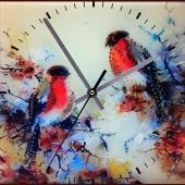 "Часы с кристаллами Swarovski ""Снегири"" Цена: 7650 руб."