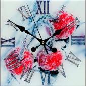 "Часы с кристаллами Swarovski ""Вишня"" Цена: 9450 руб."