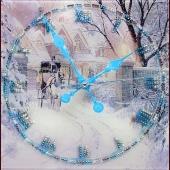 "Часы с кристаллами Swarovski ""Зимняя дорога"" Цена: 8920 руб."