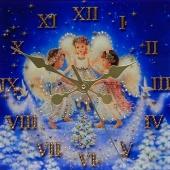 "Часы с кристаллами Swarovski ""Ангелы Рождества"" Цена: 6050 руб."