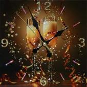 """Часы с кристаллами Swarovski """"С праздником"""" Цена: 11700 руб."""