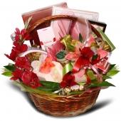 """Подарочный корзина """"Весна"""" Цена: 13500 руб."""