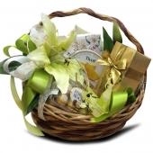 """Подарочный корзина """"Цветок"""" Цена: 4300 руб."""