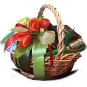 "Подарочный корзина ""Тюльпан"" Цена: 3400 руб."