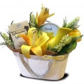 """Подарочный корзина """"Желтая лилия"""" Цена: 2450 руб."""