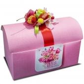 Подарочный сундучок №1 красный/розовый Цена: 1100 руб.